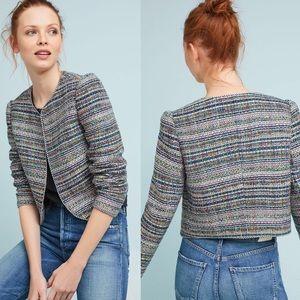 NWT Anthropologie Cropped Tweed Jacket